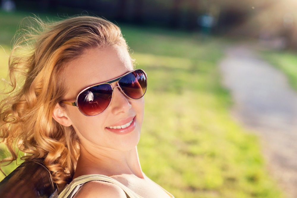 woman wearing sunglasses during autumn season